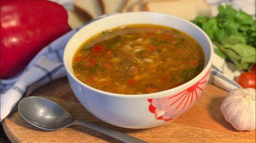 Постный суп из гречки
