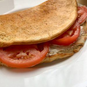 Овсяноблин рецепт с сыром и помидором
